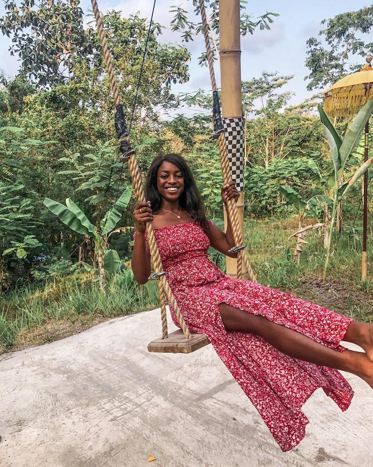 Efia swinging in the jungle