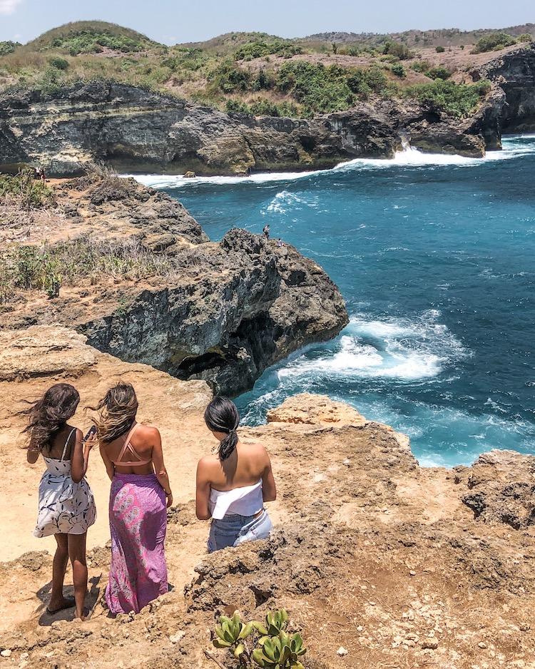 Girls over looking the ocean